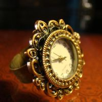 Steampunk Clock Cocktail Ring by Om-Society