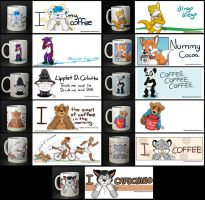Mugs and designs by pandapaco