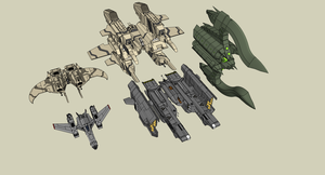 Size between Fighters / Bombers by Lock-Mar