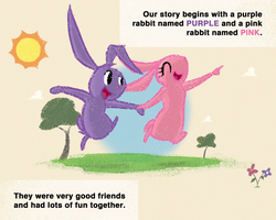 The Purple Rabbit with One Ear - Page 1 by KYMSnowman