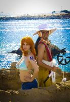 Nami and Usopp by bishounenizer