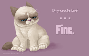 Grumpy Cat Tolerates Your Love by Asheltots
