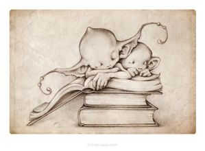 Rainy days were made for curling up in a good book by thePicSees