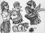 ballpoint pen sketches by marthaISmad