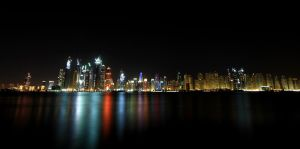 Dubai Marina, Palm view by hannajohn