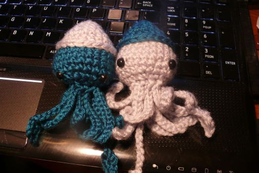 More Mini Squids by voodoomaggie