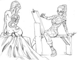 07082015 Figure Drawing by guinnessyde