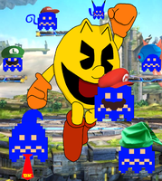 Pacman in super smash bros 4 by pikachuandpichu106