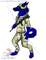 Army Dog Art-Trade by EnigmaBlueMoon