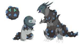 Meteor fakemon line revealed by Clophil