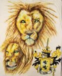 Sharpie Painting Roark Family Crest by ScarlettRoyale