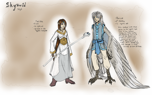 Tablet doodles - Skyworld Characters 1 by Tigryph