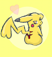 Flirty Pika by MarillMatey