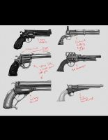 Gun concepts 2nd pass by ZipDraw