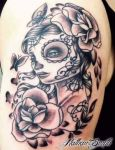 Day Of Dead Girl Tattoo By Nathan Smith by NathanLeeSmith