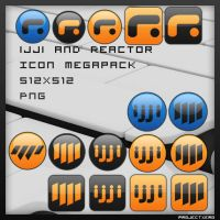 ijji and Reactor icons MEGAPAK by Superxero0