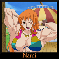 One Muscular Piece: Nami by MangaGirlsxMuscle