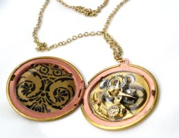 Steampunk Locket Detail 1 by teatimeinc