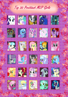Top 30 Prettiest MLP Girls (in my opinion) by PurfectPrincessGirl