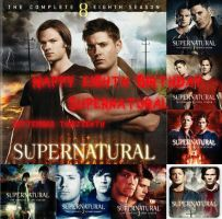 Happy 8th Birthday, Supernatural!! by 4thChairSwag