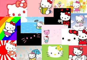 hello kitty collage by buttonsthegreat