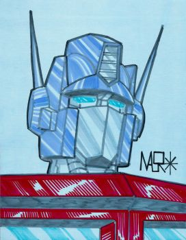 G1 Optimus Prime sketch by rattrap587