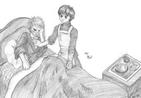 Gaara and Lee by soltian