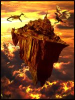 Fantasy World with Dragons by NeuS2010