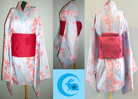 Cherry Blossom Yukata top by Upon-a-RemStar
