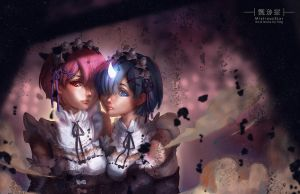 Re Zero Rem and Ram by MistiousStar
