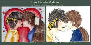 Draw this again meme. by PunkyGothic