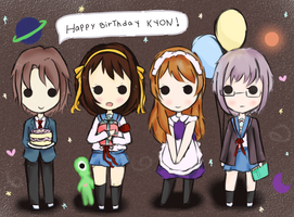 animated!! happy birthday kyon! by awdrie