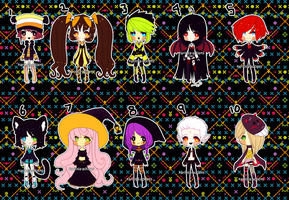 Halloweenie Adopts (3/10 OPEN) by Kariosa-Adopts