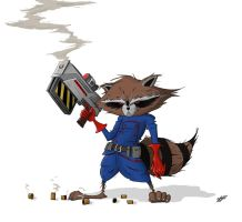 Rocket Raccoon by Sechael