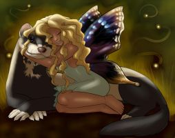 Fairy and Ferret by limeykat