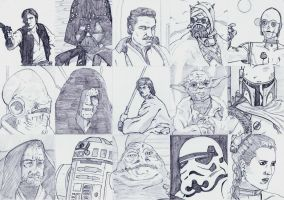 Star Wars character page by DerekDwyer