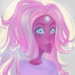 Rainbow Quartz Portrait by pinku