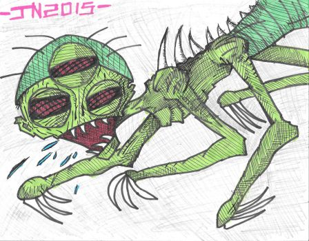 Alien with many appendages by JosiahNugent