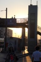 Istanbul 2012 - Traffic Gate sunset by Demonescuro