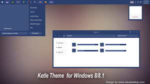 Ketle Theme For Windows 8/8.1 by Cleodesktop