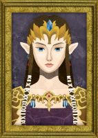 Framed Faux-Paint Zelda by ever-so-excited