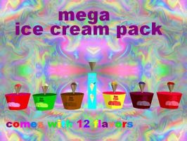 MMD mega ice cream pack by bawicho