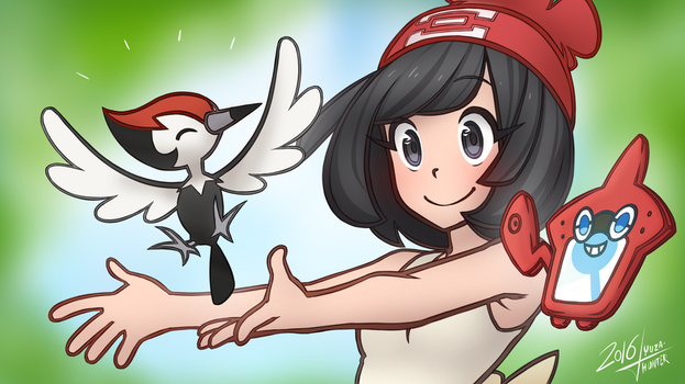 Picking Pikipek by YuzaHunter