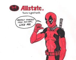 Deadpool Allstate Mayhem: The Death Star by 13foxywolf666