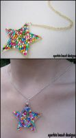 Rainbow Rhinestone Star by Natalie526