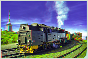 Railway on top of The Brocken ::: DRi Anaglyph 3D by zour
