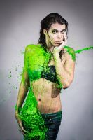 Green splash by B-O-K-E