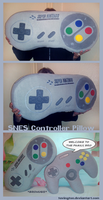 SNES Controller Pillow by tavington