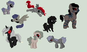 Zalgo MLP adopts by REDandYELLOWZ