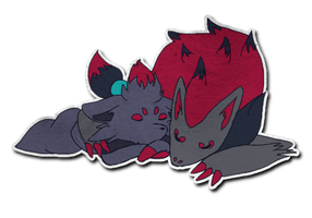 LS: Zorua and Zoroark by virtualysis